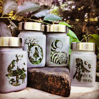 Twisted Alice In Wonderland Collection - Set of 4 Alice in Wonderland Inspired Stash Jars- Free UPGRADE to Priority Mail within the US