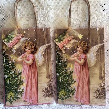 Angel Gift Bag with Hang Tag Includes Wearable Angel Pin