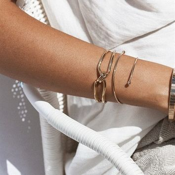 Knotted Cuff - Gold - Accessories by Sabo Skirt