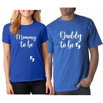 Couples Pregnancy Announcement Shirts - Mommy To Be Shirts