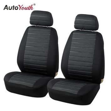 AUTOYOUTH Front Car Seat Covers Airbag Compatible Universal Fit Most Car SUV Car Accessories Car Seat Cover for Toyota 3 color