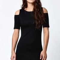 LA Hearts Cold Shoulder Bodycon Dress - Womens Dress - Black