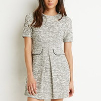 Marled Fit & Flare Dress