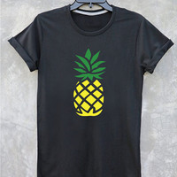 Pineapple shirt Tumblr Clothing women shirt girl t shirt design Vintage Style