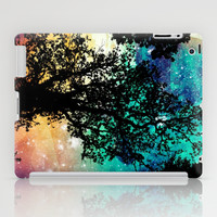 Black Trees Colorful Space iPad Case by 2sweet4words Designs
