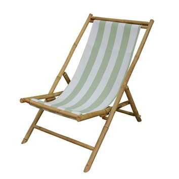 Corning Bamboo Outdoor Sling Lounge Chair