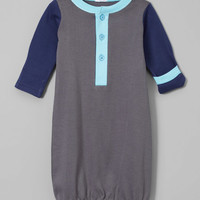 Gray & Navy Polo Gown - Infant