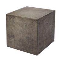 Lazy Susan Concrete Cube Table - 157-008