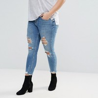 River Island Plus Alannah Jeans With Rips at asos.com
