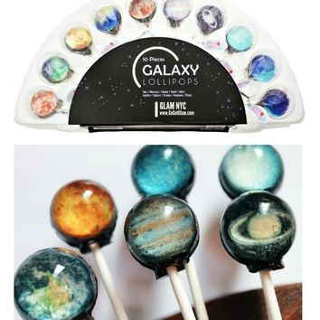 SET of 10 Galaxy Planets Universe Gourmet Lollipops