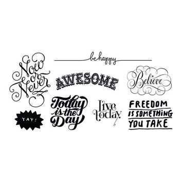 Inspirational Set of Temporary Tattly Tattoos
