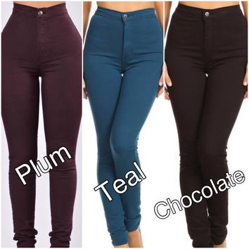 Colored High Waist Jeans