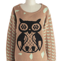 Knew It Owl Along Sweater