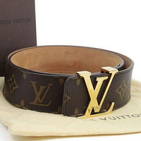 LV Louis Vuitton Fashion Leather Belt