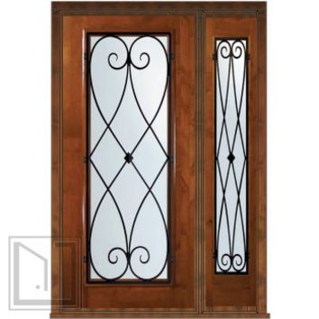 Prehung Sidelight Door 80 Wood Alder Charleston Full Lite