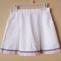 vintage SPORTY mini skirt. short skirt. sports skirt. white mini skirt. golf skirt. tennis skirt.