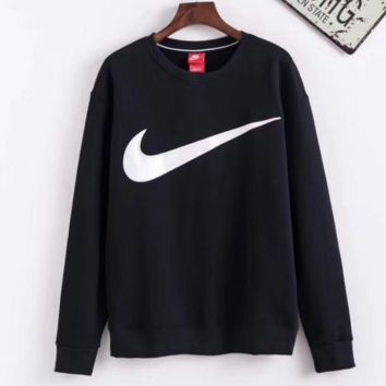 Nike Black Pullover Long Sleeves Tops Sweater Sweatshirt