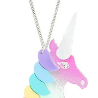 Rainbow Unicorn Swarovski Crystal Necklace by Tatty Devine