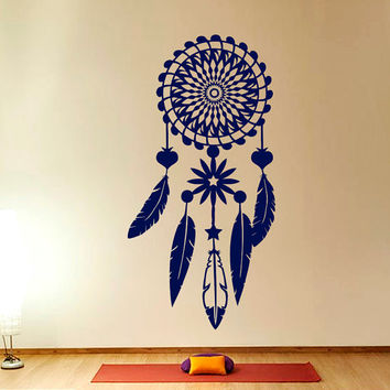 Dreamcatcher Decal  Dream Catcher Decal Feather  Wall Decal  Vinyl Sticker Wall Decor Home Interior Design Art Mural U357