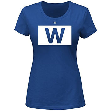 Chicago Cubs MLB Women's W Flag T-Shirt (X-Large)