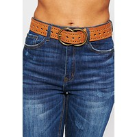 I See You Double Ring Belt (Tan)