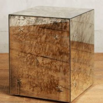 Persica Side Table, Square by Anthropologie in Silver Size: Square Side Table House & Home