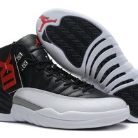 Air Jordan 12 Retro XII AJ12 White/Black Basketball Shoes Size US5.5-13