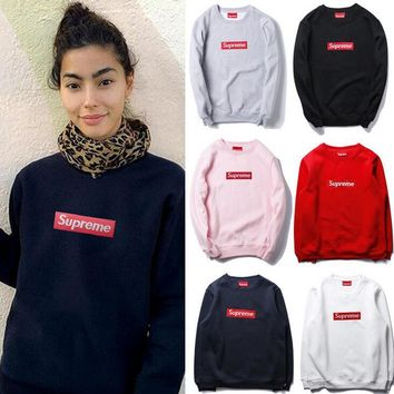 Supreme Fashion Round Neck Cotton Sweater