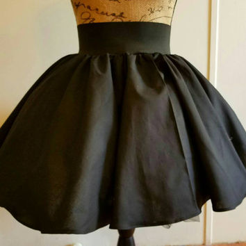 High - waist - elastic  - pinup  - rockabilly  - punk - full - circle - skirt