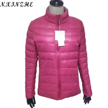 N.XINZHE Women's Jackets Coats 2017 Spring Padded Cotton Reversible Warm Casual Thin and light Parkas women Jacket Manteau Femme