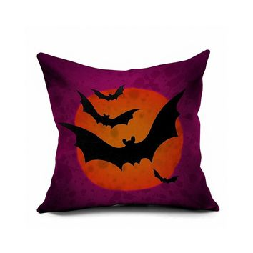 Decoration Bat Print Cushion Cover [6451677894]