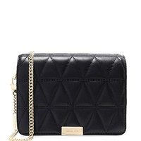 MICHAEL Michael Kors Women's Quilted Leather Clutch Bag Black