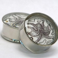 Octopus Plugs Reversible 7/16 1 Inch 11mm to 25mm by arksendeavors