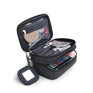 Quilted Cosmetic Travel Bag