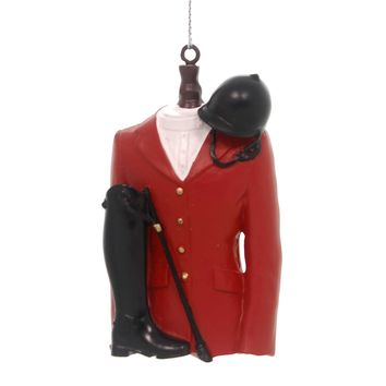Holiday Ornaments RED EQUESTRIAN JACKET Polyresin Riding  Compete 134082