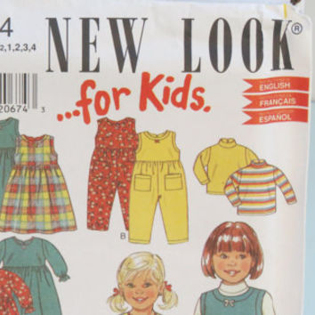 Simplicity new look for kids sewing pattern 6664 Kids 13 pieces size 1/2 1 2 3 4