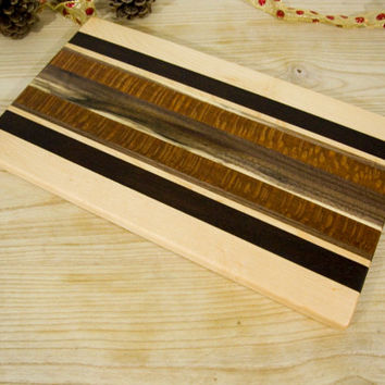 Striped Wooden Cutting Board