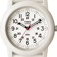 Timex Outdoor Camper Fabric Strap White Dial Unisex watch #T2N260