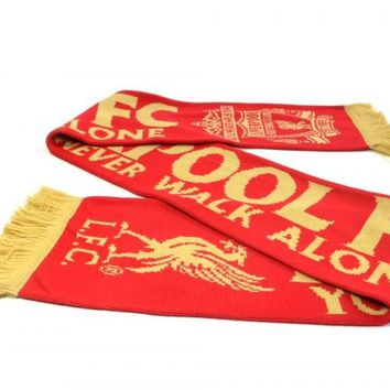 Liverpool FC - YNWA Red/Gold EPL Scarf