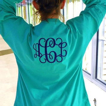 Spirit Shirt Monogram Personalized Font Shown INTERLOCKING