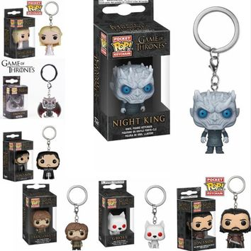 FUNKO POP New Game of Thrones JON SNOW DAENERYS Night KING Ghost Tyrion Action Figure Keychain Toys for Children Christmas Gift