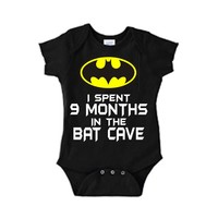 I Spent 9 Months In The Bat Cave Batman One Piece Bodysuit