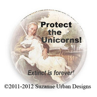 Save the Unicorn Magnet-Extinct is Forever