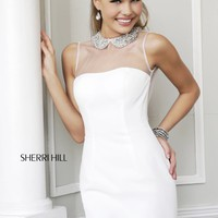 Sherri Hill 21291 Short Cocktail Dress with Collar