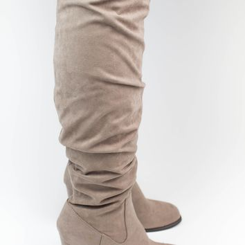 Taupe Tall Boots - Madden Girl