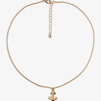 Lacquered Anchor Necklace