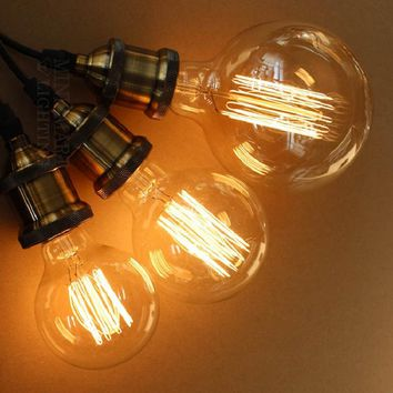 Vintage Edison Bulbs E27 Incandescent Bulbs G125 G80 Filament Bulb Squirrel-cage Carbon Bulb Retro Edison Light For Pendant Lamp