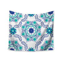 "Anneline Sophia ""Let's Dance Blue"" Teal Aqua Wall Tapestry"