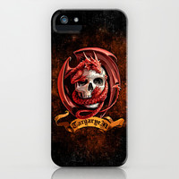 Red Dragon Targaryen clan Warrior Emblem apple iPhone 4 4s, 5 5s 5c, 6, iPod & samsung galaxy s4 case