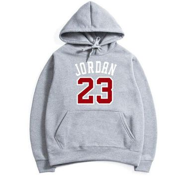 HOWL LOFTY 2017 New Women/Men's Casual Players JORDAN 23 Print Hedging Hooded Fleece Sweatshirt Hoodies Pullover Size M-XXL